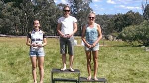 W21E Placegetters-Lizzie Ingham 1st, Laura Robertson 2nd, Aislinn  Prendergast 3rd